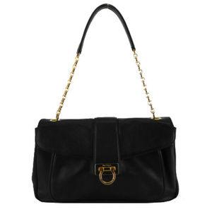 SALVATORE FERRAGAMO Black Leather Bag$2,700.00